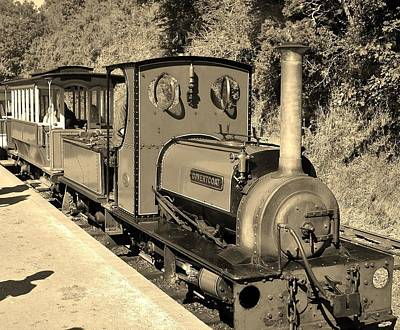 Photograph - Covertcoat In Sepia Launceston Steam Railway by Richard Brookes