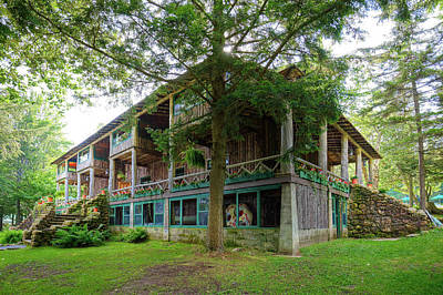 Photograph - Covewood Lodge On Big Moose Lake by David Patterson
