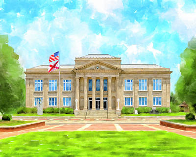 Mixed Media - Covington County Courthouse - Andalusia Alabama by Mark Tisdale