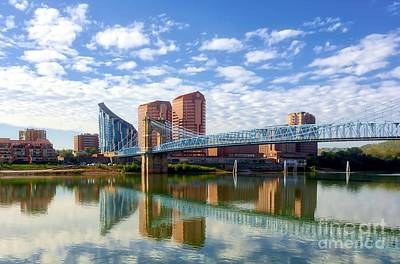 Photograph - Covington Kentucky Skyline Reflections by Mel Steinhauer