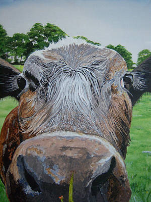 Cow Face Painting - Cow 1 by Ken Day