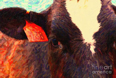 Photograph - Cow 138 Reinterpreted by Wingsdomain Art and Photography
