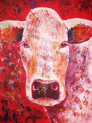 Moo Moo Painting - Cow by Anastasis  Anastasi