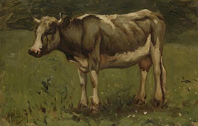 Mauve Painting - Cow by Anton Mauve