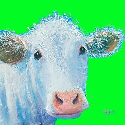 Painting - Cow Art - Charolais by Jan Matson