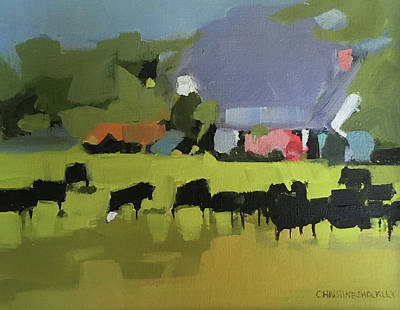 Painting - cow by Chris Gholson