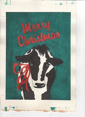 Painting - Cow Christmes by Jeanne Liander