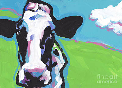 Cow Cow Art Print by Lea S