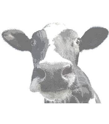 Drawing - Cow - Cross Hatching by Samuel Majcen
