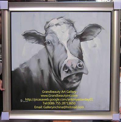 cow Art Print by Darren