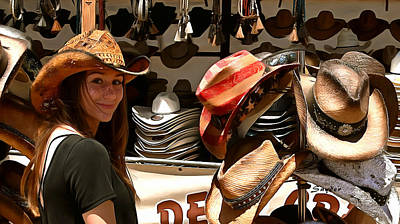 Photograph - Cow Girl And Cowgirl Hats Detail by Cow Girl and Cowgirl Hats Detail