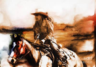 Bonding Painting - Cow Girl  by Gull G
