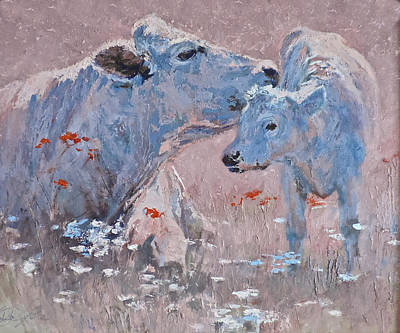 Painting - Cow Lick by Mia DeLode