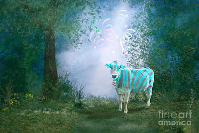 Photograph - Cow On The Way To Carnival by Jutta Maria Pusl