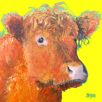 Cow Painting - Highland  Art Print