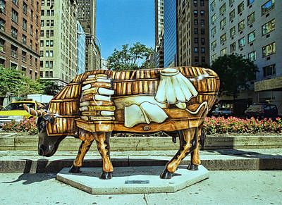 Photograph - Cow Parade N Y C  2000 -  Cow - To - Book by Allen Beatty