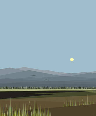 Digital Art - Cow Pass And Blue Sky by Val Arie