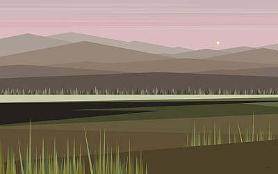 Digital Art - Cow Pass Sunrise by Val Arie