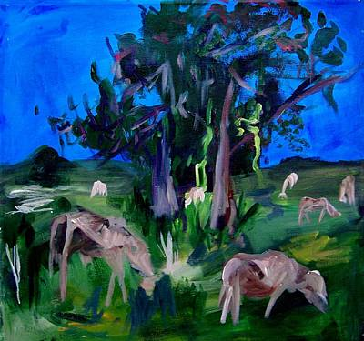 Cow Pasture   Neptune Road Art Print by Ellen Seymour