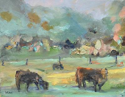 Painting - Cow Pasture by Donna Tuten