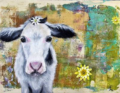 Wall Art - Painting - Cow Patty by Carol Iyer