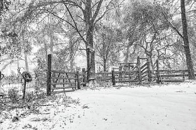 Photograph - Cow Pen Snow Scene by Scott Hansen