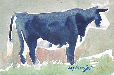 Painting - Cow Sketch by Len Stomski