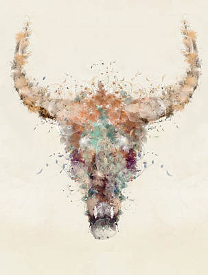 Painting - Cow Skull by Bri B