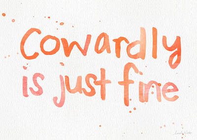Cowardly Print by Linda Woods