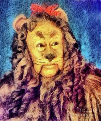 Musicians Royalty Free Images - Cowardly Lion from The Wizard of Oz Royalty-Free Image by John Springfield