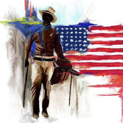 Painting - Cowboy 1 243 by Mawra Tahreem