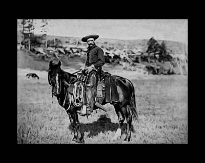Bed Spread Photograph - Cowboy 1887 by John Feiser