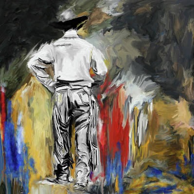 Painting - Cowboy 247 1 by Mawra Tahreem