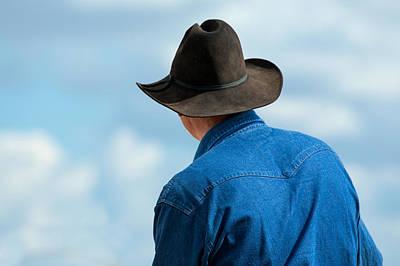 Cowboy Back Art Print by Todd Klassy