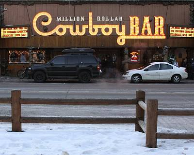 Photograph - Cowboy Bar - Jackson Hole by Philip Bracco