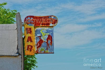Photograph - Cowboy Bar by David Arment