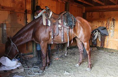 Photograph - Cowboy Barn by Diane Bohna