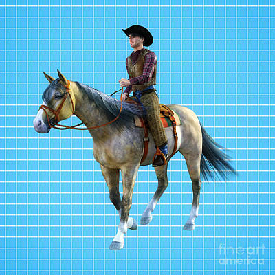 Digital Art - Cowboy Blue by Methune Hively