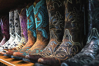 Photograph - Cowboy Boots Buy One Get Two Free Painting by Carol Montoya