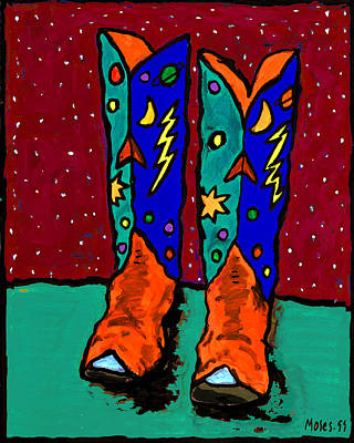 Painting - Cowboy Boots by Dale Moses