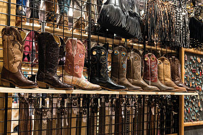 Photograph - Cowboy Boots For Sale At The San Antonio Stock Show by Carol M Highsmith