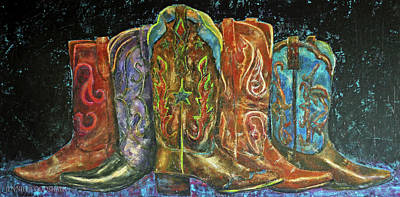 Painting - Cowboy Boots by Jennifer Godshalk