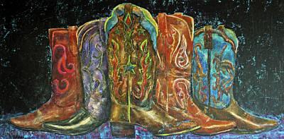 Painting - Cowboy Boots by Jennifer Godshalk
