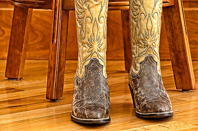 Cowboy Boots Art Print by Maria Coulson