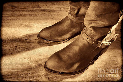 Photograph - Cowboy Boots On Saloon Floor by American West Legend By Olivier Le Queinec