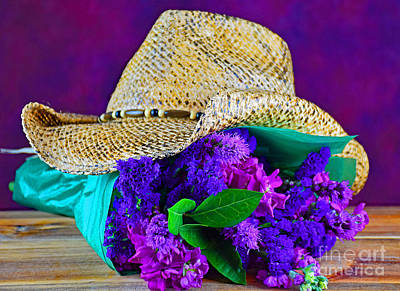 Cowboy Bouquet Art Print