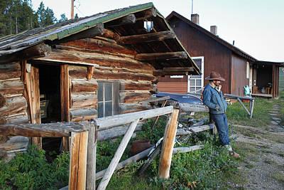 Photograph - Cowboy Cabin by Diane Bohna