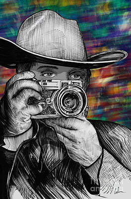 35mm Painting - Western Range Finder by Doug LaRue