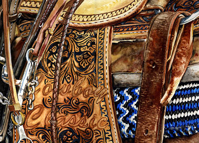 Classic Saddle Painting - Cowboy Classic by Nadi Spencer