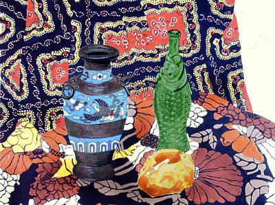 Still Life With Fish Painting - Cowboy Cloth by David Zimmerman